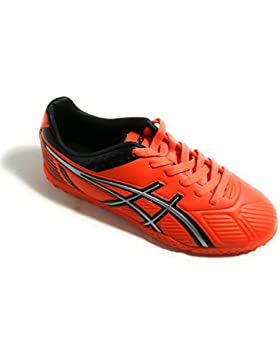 Asics - Zapatillas de fútbol Sala de Material Sintético para niño Naranja Orange.F-Black