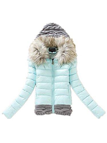 Mantel Damen mit Pelz kapuze Lady fit Wintermantel Parka Jacke turbulent Trench Coat Winterjacke Windjacke Outwear …