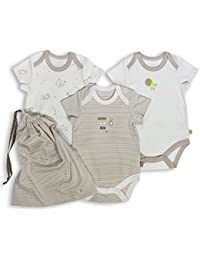 The Essential One - Paquete de 3 Body Bodies para bebé unisex ESS98