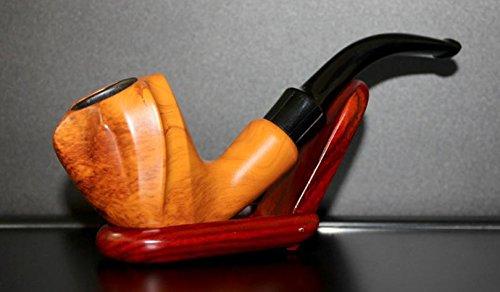 Fumo di sigaro legno di mano-taglio filtro Dou Shi, legno massello curvato a tabacco portatile