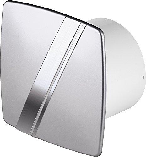 Diámetro 100Mm Diseño baño Ventilador Plata/satén con temporizador/seguimiento y válvula antirretorno wls100t...