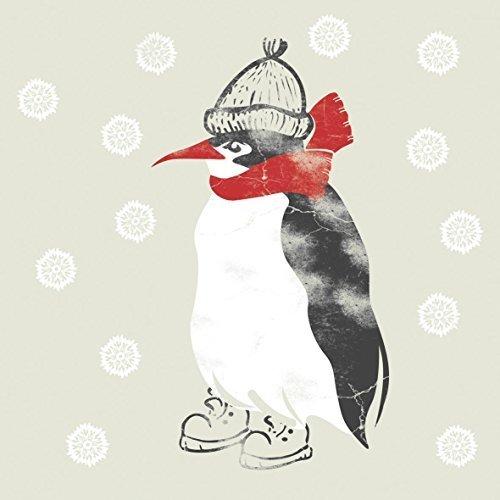 hiver Manchot bonnet et écharpe rouge 3-ply 20 Papier Serviettes 13