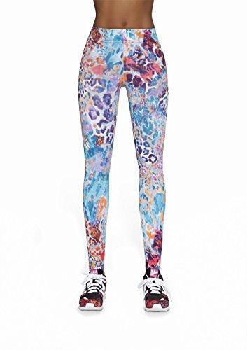 Cathy90 - Legging pantalon multi sports femme - Vêtements Fitness - Bas Black MULTICOLORE