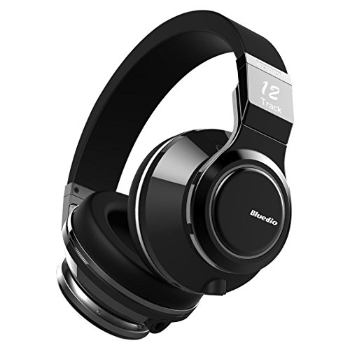 Bluedio V (Victory) Pro Patented PPS12 Drivers Wireless Cuffie Bluetooth Auricolari Headphones (Nero)