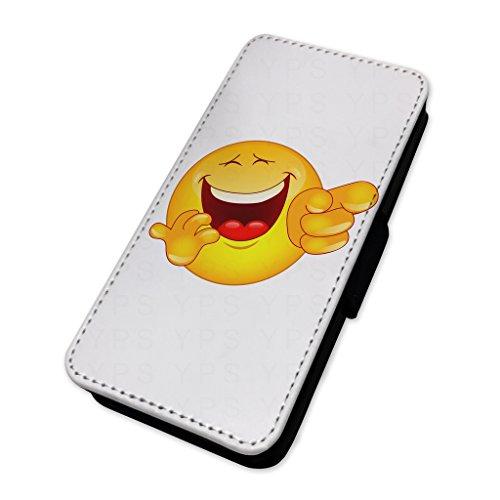 Funny laughing Emoji–Custodia ad aletta in pelle copertura di carta Apple Iphone 5/5s/SE