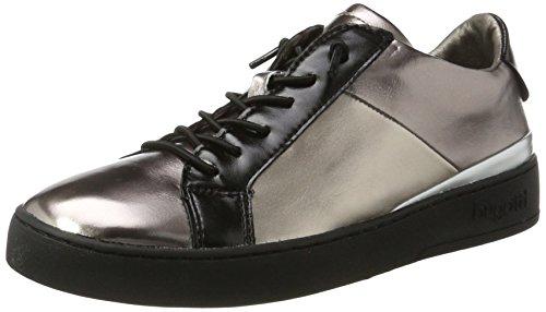 Bugatti - 422291605050, Pantofole Donna Nero (Black/ Metallic)