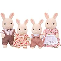 Sylvanian Families Milk Rabbit Family, Game for Girls