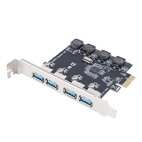 Orico PME-4U Scheda PCI Express (PCIe) USB 3.0 a 4 Porte con Profilo Standard per PC - Cavo Molex 4-Pin a SATA da 15 pin