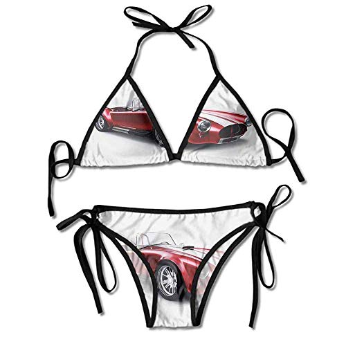 HLKPE Swimsuit Women Tummy Control Coupe Car Automobile Printing Bikini for Women Coupe Candy