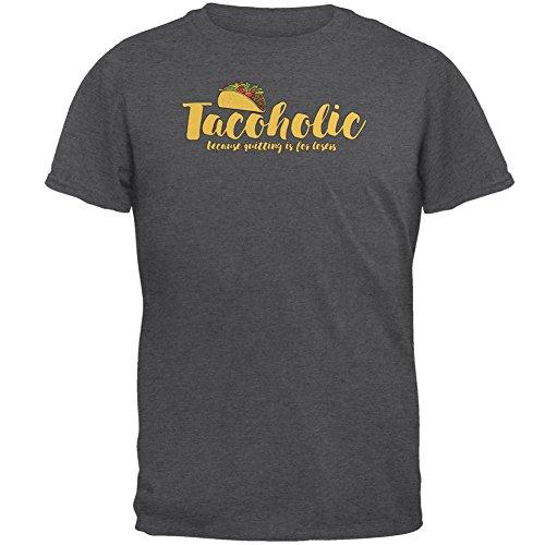 Cinco De Mayo Tacoholic Taco beenden Verlierer-Herren-T-Shirt Grey