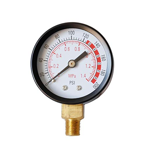 G-wukeer Radialmanometer Y50 Hochwertiges Manometer Öldruckmanometer