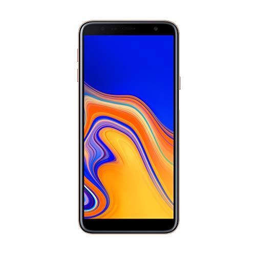 "Samsung Galaxy J4+ - Smartphone de 6"" (Quad Core 1.4 GHz, RAM de 2 GB, Memoria de 32 GB, cámara de 13 MP, Android) Color Oro"