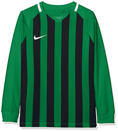 Nike Kinder Striped Division III Jersey LS Trikot, Pine Green/Black/White, XS Preisvergleich