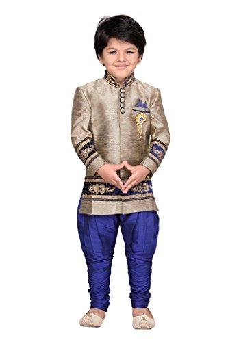 AJ Dezines Kids Party Wear Suit Set for Boys (692_BLUE_4)