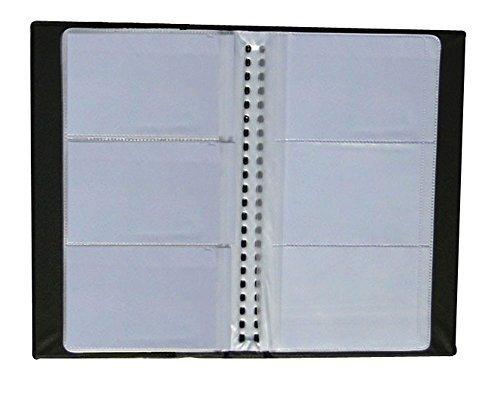 igoolee Business PU Leder Name Card Holder Buch für 240Kartenfächer, Kreditkarte Mitgliedschaft Karte Buch Halter (schwarz) (Mitgliedschaft)