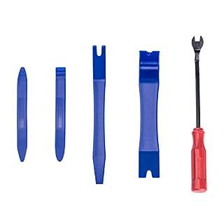 DEDC Verkleidung Werkzeug Zierleistenkeile Set Lösewerkzeug Ausbauwerkzeug für Entfernung von Auto Armaturenbrett Radio Türverkleidung mit Sack 5 Teilig