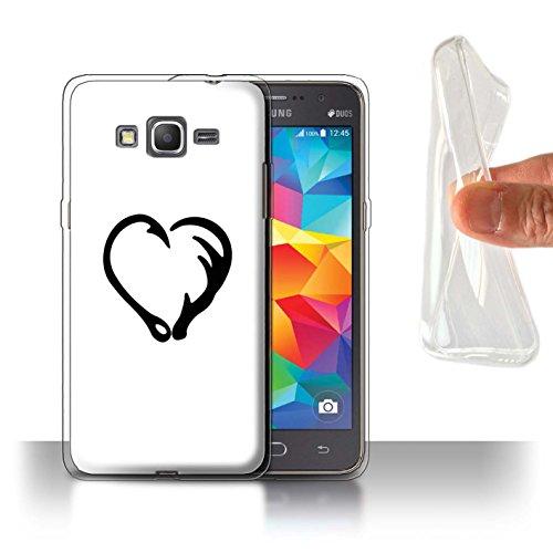 Stuff4® Gel TPU Hülle/Case für Samsung Galaxy Grand Prime/Magisches Fischhaken-Herz Muster/Karikatur Polynesische Prinzessin Kollektion (Grande Herzen Collection)