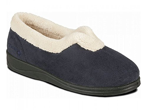 Padders – Carmen Donna microsuede Extra Wide (ee), Full Pantofole Blu Navy Navy blue