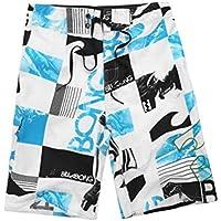 Pantalones Cortos de Playa, Pantalones Cortos de Surf Hawaianos Ocasionales, Pantalones Cortos de Verano para Hombres, Good dress, Azul, 34