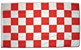 XXL Flagge Fahne Karo Rot-Weiß 150 x 250 cm
