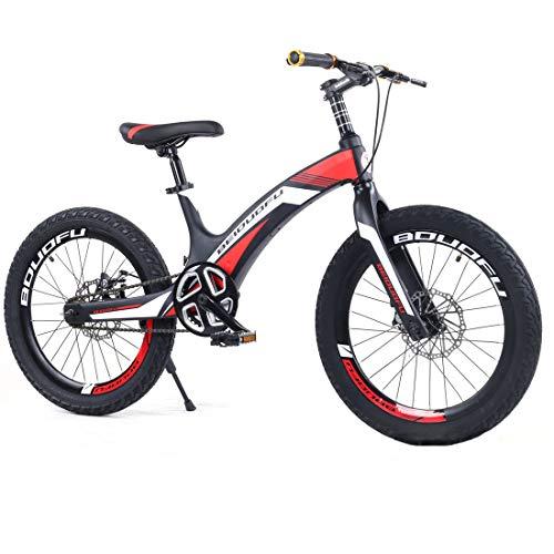 Jun Bicicleta para Niños De Aleación De Aluminio Y Magnesio De 20 Pulgadas, Freno De Disco Doble De...