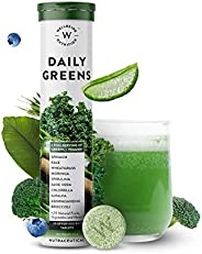 Wellbeing Nutrition Daily Greens, Wholefood Multivitamin with Vitamin C, Zinc, B6, B12, Iron for Immunity and