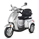 Krafthertz Seniorenmobil Papamobil - Elektro Dreirad für Senioren mit 800 Watt, max. 20 km/h, Reichweite bis zu 60 km, Farbe: Silber