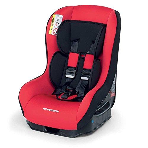 Foppapedretti Go! Evolution, Seggiolino auto ,Rosso  Cherry, Gruppo 0/1 (0-18 Kg) per bambini dalla nascita fino a 4