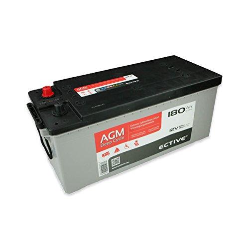 ECTIVE 180Ah 12V AGM Batterie EDC-Serie VRLA Versorgungsbatterie in 7 Varianten: 65Ah - 230 AH (wartungsfrei)