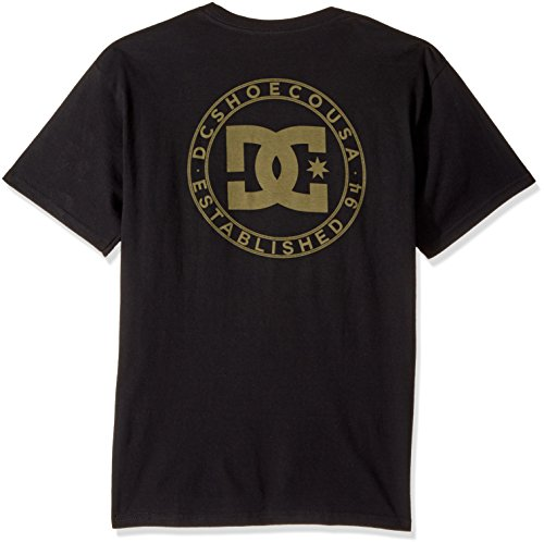 DC Mens Wheel of Steelo Pocket Short Sleeve Tee Black