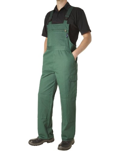 PIONIER WORKWEAR Herren Latzhose Cotton Pure in grün (Art.-Nr. 9493)