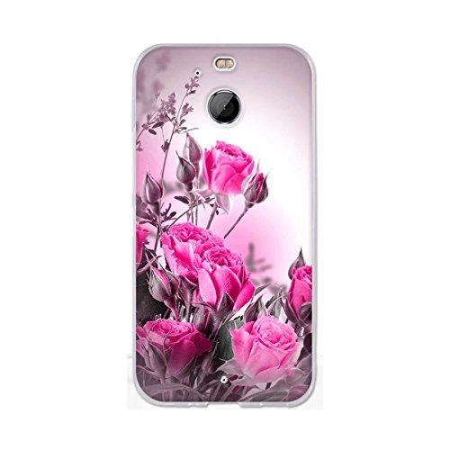 HTC Bolt Hülle, HTC 10 Evo Hülle, Gift_Source [ Pinke Rose ] Ultra Dünn schützt Hülle Flexiblen Silikon Schutz Hülle TPU Etui Bumper Handyhülle Cover Anti-Kratzer Schutzhülle Tasche für HTC Bolt/10 Evo