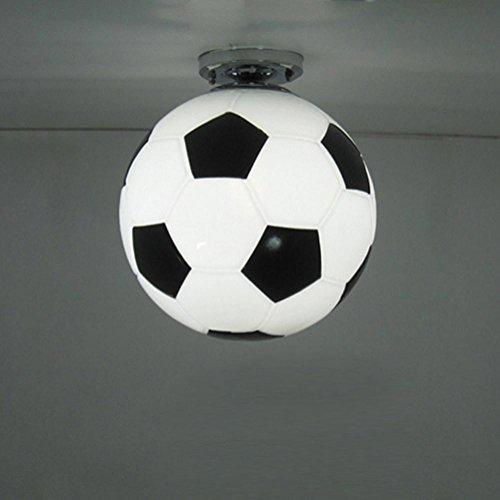 Welt Cup Fußball Anhänger Licht Deckenleuchte kreative Kronleuchter pastorale Cafe Bar Wohnzimmer Pendelleuchte, 220v Durchmesser 25cm -