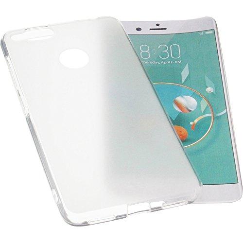 foto-kontor Tasche für Archos Diamond Alpha Plus Gummi TPU Schutz Handytasche transparent weiß