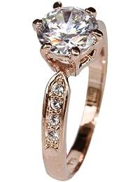 Fashion Plaza Damen Ring mit Kristall Schultern R295 (63 (20.1))
