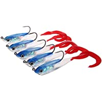 Zhuhaimei,5 Piezas al Aire Libre Pesca Colorida Cebo de la manivela para lanzar Trolling sacudidas o contracciones(Color:Azul Claro,Size:Color D)