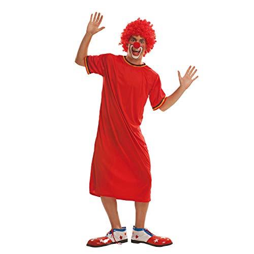 My Other Me Me-200557 Disfraz de payaso para hombre, Color rojo, M-L (Viving Costumes 200557