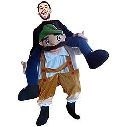 Carry me Bayer-Kostüm, F111 Gr. M-XL, Bayer als Huckepack, Männer-Kostüme Paar-Kostüme Gruppen-Kostüme, Fasching Karneval, Faschings-Kostüme, Geburtstags-Geschenk Erwachsene