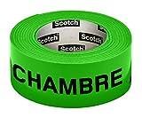 Scotch Ruban adhésif fluo préimprimé fluo Chambre 30mm x 50m Vert