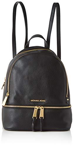 Michael kors rhea zip, borsa a zainetto donna, nero, 25.4x29.9x11.4 cm (w x h x l)