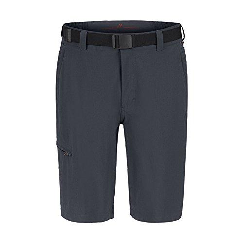 Maier Sports, Bermuda Huang in 90% PA 10% EL in 32misure, da escursionismo/funzione pantaloni corti, con cintura, elasticizzato, ad asciugatura rapida e resistenti all' acqua, Uomo, 130002, grafite,  grafite
