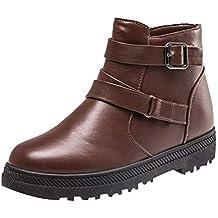 02771361a1d BBestseller Botas De Mujer Moda Cabeza Redonda Añadir algodón Cremallera  Mujer Deporte Boots Botines Thick Heel