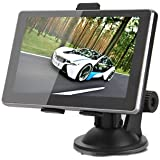 E-PLAZA 5 inch car GPS Sat Nav Touch Screen GPS Car Navigator with Europe, UK, AU, North America (US and Canada Mapping), Sunshade Included