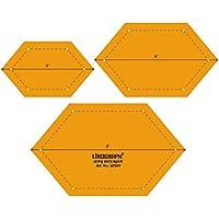 Plantilla larga escala en forma de hexágono Quilting Patchwork Conjunto de 3 piezas