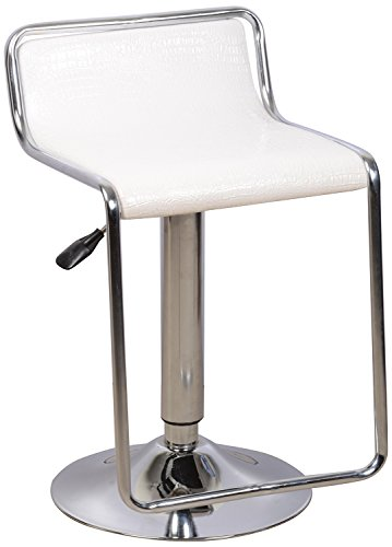 Kelvin Bar Stool (Matt Finish, White)