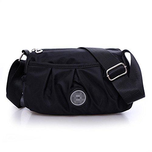 MENUDOWN Weiblicher Beutel Sommer-Dametasche Mode-Oxford-Schulter-Kurier-Tasche Normallack,Black (Black Kurier-tasche)