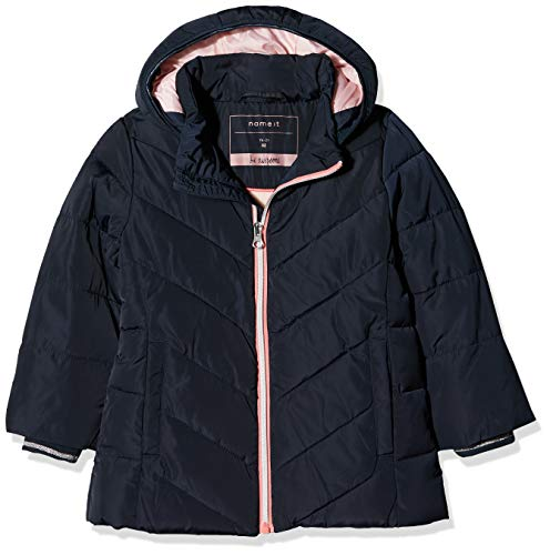 NAME IT Baby-Mädchen NMFMIL Puffer Jacket Camp Jacke, Blau Sky Captain, 92 Captain Fleece