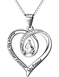 Sister Gifts Big Necklace Birthday Firends Always My Sisters Forever Friend