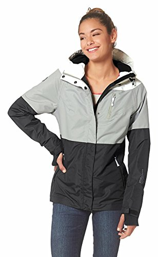 KangaROOS Damen Funktionsjacke Übergangsjacke Jacke grau-schwarz-weiß