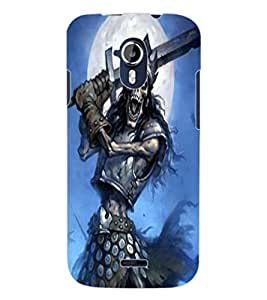 ColourCraft Fighting Skeleton Design Back Case Cover for MICROMAX CANVAS MAGNUS A117